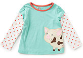 Copper Key Adventure Wear by Little Girls 2T-4T Pig-Applique Tunic Top