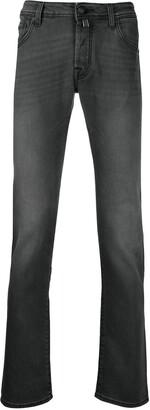 Jacob Cohen Straight-Leg Grey-Wash Jeans