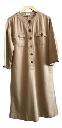 Celine Camel Wool Dresses