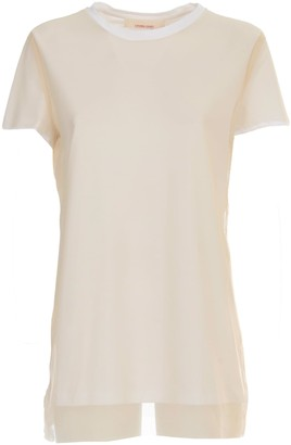 Liviana Conti T-shirt S/s Cotton And Tulle