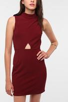 Mandarin Collar Front Cutout Dress