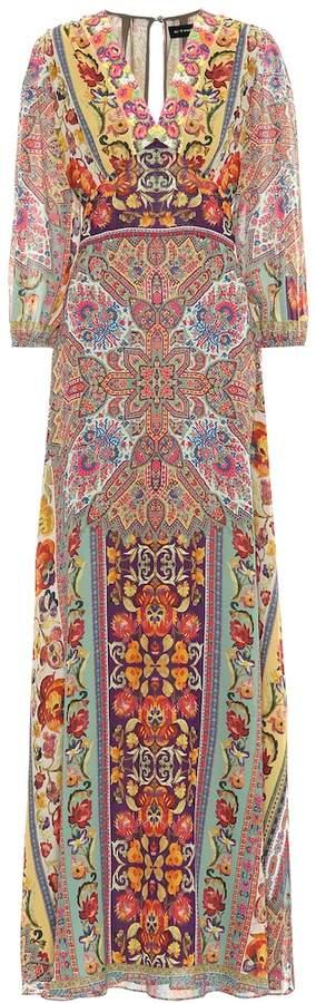 Etro Embroidered silk maxi dress