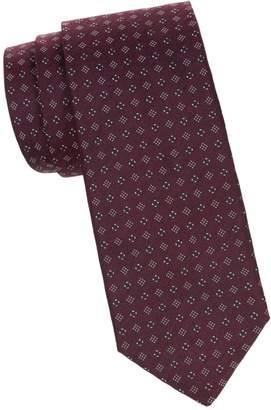 Isaia Geo-Print Silk Tie