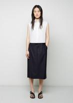 Maison Margiela Line 4 Mixed Pinstripe Shirtdress