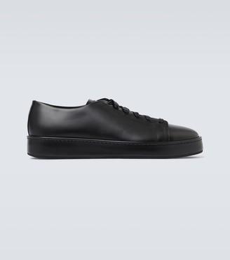 Santoni Leather tennis sneakers