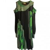Issa Green Silk Dress for Women Vintage