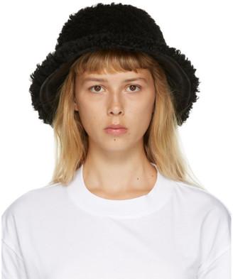Marni Black Shearling Bucket Hat