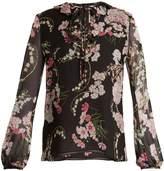Giambattista Valli Lily Of The Valley-print silk-georgette blouse