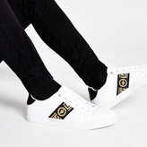 River Island White wasp tape lace-up trainers
