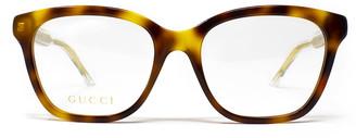 Gucci Gg0566o Havana Glasses