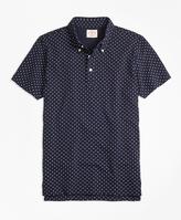 Brooks Brothers Micro-Dot-Print Polo Shirt