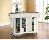 Crosley 52 in. Stainless Steel Top Kitchen Island Cart in White