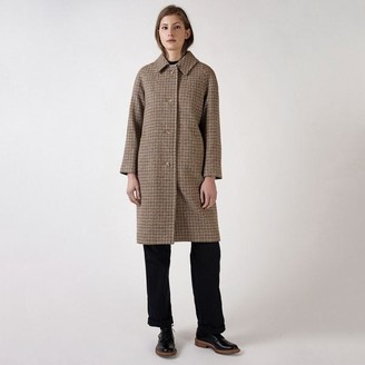 Kate Sheridan Heritage Check Lambswool Louis Coat - S/M