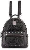 MCM Stark Kristal X-Mini Backpack, Black