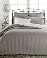 Charter Club CLOSEOUT! Damask Stripe King Duvet Cover, 500 Thread Count 100% Pima Cotton