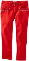 Osh Kosh Woven Embroidered Pants (Toddler/Kid) - Red-6