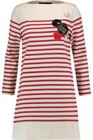 Marc by Marc Jacobs Appliquéd Striped Cotton Mini Dress