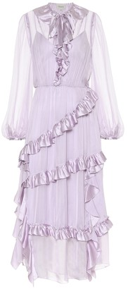 Temperley London Penny ruffled silk dress