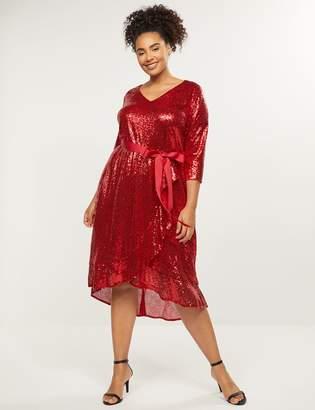 Lane Bryant Sequin Fit & Flare Dress