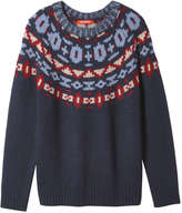 Joe Fresh Women's Fair Isle Sweater, Navy (Size M)