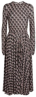 Valentino Printed Midi Dress