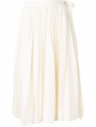 Dice Kayek Accordion Pleat Midi Skirt