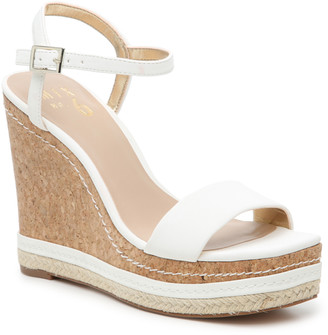 Mix No. 6 Women's Zoha Wedges Sandals White Size 5 Faux Leather From Sole Society