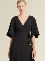 DKNY Faux Wrap Dress With Asymmetrical Hem