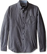 Zoo York Men's Long Sleeve above the Rail Woven