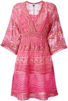 M Missoni v-neck dress - women - Polyamide/Viscose/Metallic Fibre/Polyester - 42
