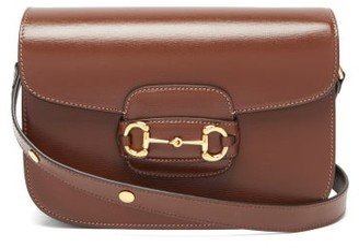 Gucci 1955 Horsebit Grained-leather Shoulder Bag - Tan