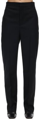 Balenciaga Tailored Wool Blend Twill Pants