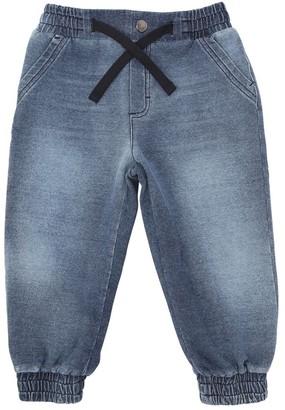 Dolce & Gabbana Denim Effect Cotton Sweatpants