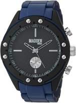 Steve Madden Men's Quartz Stainless Steel and Alloy Dress Watch, Color:Blue (Model: SMMW003NB)