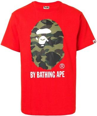 A Bathing Ape 1st Camo logo-print cotton T-shirt