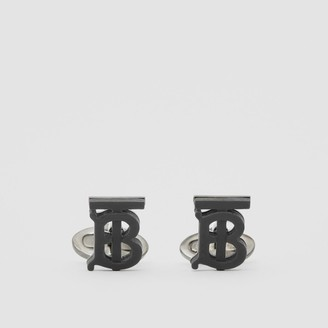Burberry Monogram Motif Resin and Palladium-plated Cufflinks
