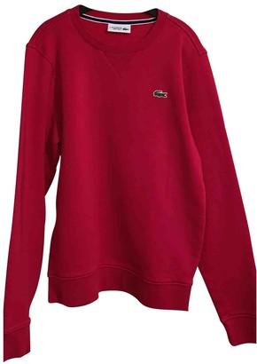 Lacoste Red Cotton Knitwear & Sweatshirts