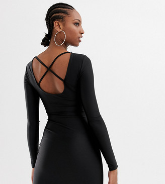 Collusion Tall low back bodycon dress