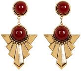Yochi Geo Triangle Earrings