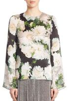 ADAM by Adam Lippes White Dahlia Long-Sleeve Blouse