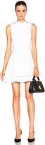 Victoria Beckham Dense Rib Ajoure Flare Mini Dress