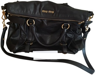 Miu Miu Bow bag Black Leather Handbags
