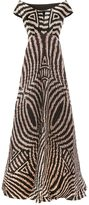 Afroditi Hera striped off shoulder dress - women - Silk/Polyester/Viscose - 42