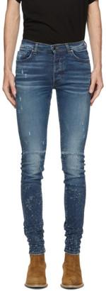Amiri Indigo Denim Shotgun Jeans