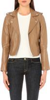 Maje Basalt leather biker jacket