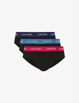 Calvin Klein Logo-print stretch-cotton briefs pack of three