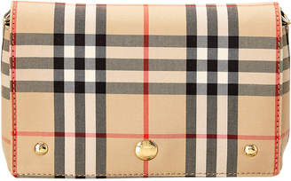Burberry Small Vintage Check & Leather Crossbody