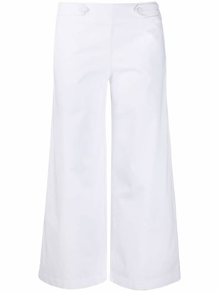 Love Moschino Cropped Wide-Leg Trousers