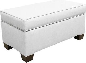 Skyline Furniture Brianna Upholstered Storage Ottoman