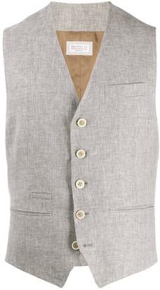 Brunello Cucinelli slim-fit V-neck waistcoat